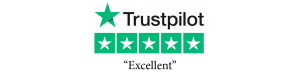 trustpilot logo with five star excellent review rating